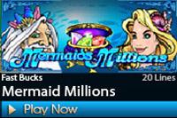 1scasino MermaidMillions เกมสล๊อตออนไลนืที่น่าสนใจ